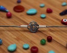 925 Silver Knot Bracelet  Celtic  Knot Bracelet by SilverLiningStr