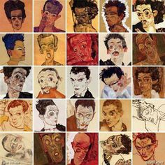 Egon Schiele - Selfies