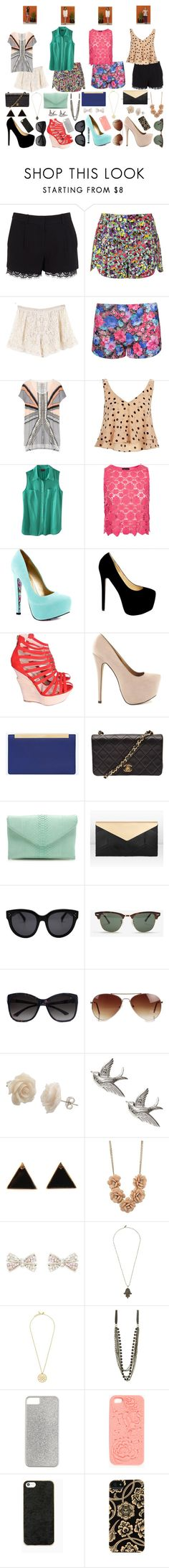 """""""The Lying Game Outfits"""" by daniellenicole ❤ liked on Polyvore featuring Diane Von Furstenberg, Chando, jared, Topshop, sass & bide, River Island, Merona, TaylorSays, Nly Shoes and Yves Saint Laurent"""