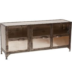 Element Media Console iron and steel console