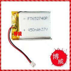Дешевое 3.7 В литий полимерный аккумулятор 652740 450 мАч аккумулятор навигационные новые игрушки беспроводная гарнитура, Купить Качество Аккумуляторы для MP3/MP4 плеера непосредственно из китайских фирмах-поставщиках:            Полимерный аккумулятор: 652,740                            Емкость: 450 мА                            Размеры