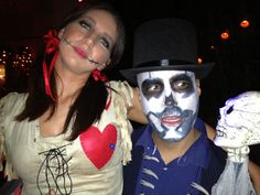 Voodoo doll and witch doctor