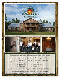 The Peach Barn at Timbermill Acres..... This is where I want to get married!