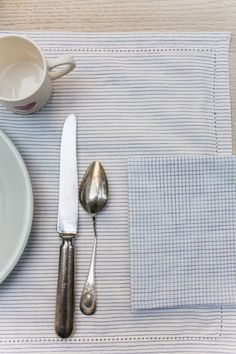 La Table — Scarlette Ateliers - Paris New Delhi New Delhi, Plaid Outfits, Red Tiles, Napkin, Stripes, Fabrics, Hands, India