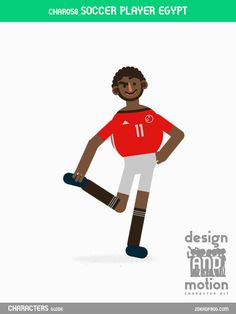 CHAR058_SoccerPlayerEgypt. Part of D&M Character Kit.