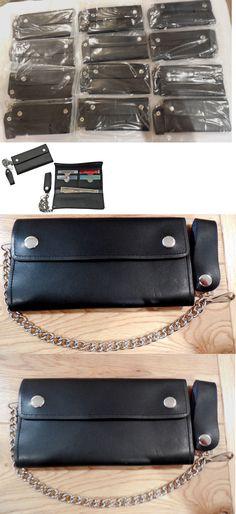 Mens Accessories 45053: Lot Of 12 Black Leather 8 Biker Trucker Wallet . 10 Credit Card Slots -> BUY IT NOW ONLY: $134 on eBay!
