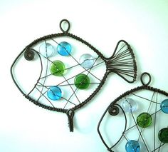 rybička se skleněnými knoflíky