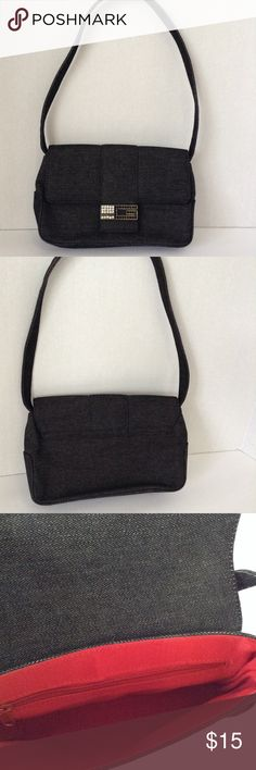 Shop Women s Guess Black size OS Shoulder Bags at a discounted price at  Poshmark. Description  In excellent condition Guess black denim handbag  with ... e22a63dcae410