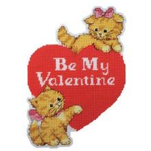 Sweethearts Wall Hanging Plastic Canvas Kit