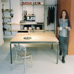 skintable   leather and steel table   by Vida Stockholm