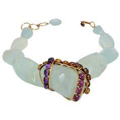 Iradj Moini Fluorite and Semi Precious Stone Necklace