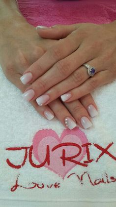 Bridal Nails - Shaded French Manicure with Swarovski Details