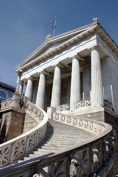 Escalinata de la Biblioteca Nacional de Atenas