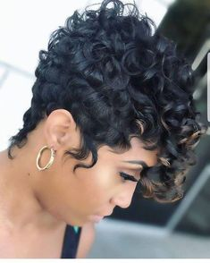 Best Short Hairstyles for Black Women 2018 – 2019 - The UnderCut . - Best Short Hairstyles for Black Women 2018 – 2019 – The UnderCut Best Short Hairst - Curly Pixie Hairstyles, Cute Hairstyles For Short Hair, Black Women Hairstyles, Curly Hair Styles, Natural Hair Styles, Hairstyles 2016, Short Haircuts, Shag Hairstyles, African Hairstyles