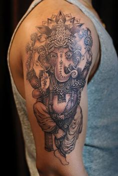 Chronic Ink Tattoo - Toronto Tattoo  Ganesh tattoo in progress. Done by Karen.