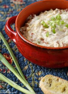 Asiago Dip (■1 cup light mayo ■1 bunch thin sliced green onions ■⅔ cup grated Asiago cheese ■5 or 6 artichoke hearts diced ■½ cup diced sun dried tomatoes (not oil-packed) ■1- 8 oz. carton low fat sour cream ■1 T. grated Parmesan ■2 t. fresh minced garlic)