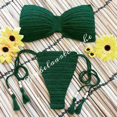 Crochet bikini, Bandeau top, c Bandeau Crochet, Crochet Lingerie, Crochet Bikini Pattern, Crochet Bikini Top, Knitted Swimsuit, Crochet Bathing Suits, Mode Crochet, Knit Crochet, Crochet Designs