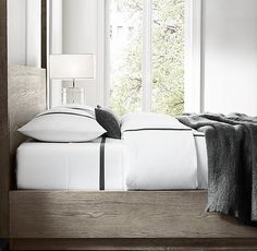 Italian Linea Stripe Cotton Bedding Collection