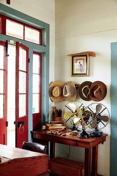 Planked walls and transom above door. Originally built in the this Creole cottage sits between a sugarcane field and Bayou Teche in Franklin, Louisiana maidan Creole Cottage, Southern Cottage, Plank Walls, Step Inside, Cottage Homes, Beautiful Space, Decoration, Sweet Home, New Homes
