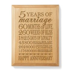 5th Wedding Anniversary Gift Ideas for Wife