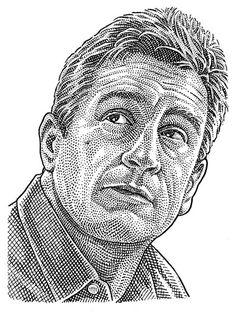 Robert De Niro hedcut stipple portrait