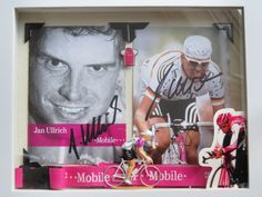 "Jan Ullrich ""The Kaiser"" commemorative shadowbox, authentic autographs and swag, T…Mobile!"