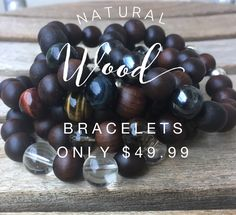 Our natural wood bracelet feels and smells divine! Connect to nature and feel grounded and comforted with these unique healing bracelets. #woodbracelets #zenjewelz #zenjen #healingcrystaljewelry