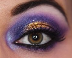 Makeup your Jangsara: Tutorial: Purple and Gold