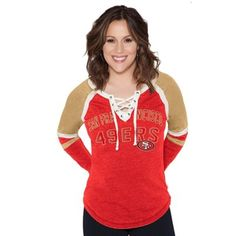 Men's San Francisco 49ers '47 Scarlet Forward Cadence Long Sleeve T-Shirt