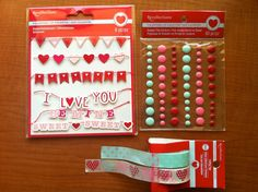 """Scrapbook Deals and Steals: 50% Off Entire Purchase """"Recollections"""" Stickers and Embellishments TODAY only 02-05-14   Scrapbook OBSESSION {these are Valentines embellies I also got for 50% off / SBO}"""