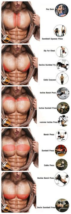 what exercises target what areas of the chest