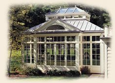 This Edwardian Conservatory is a english style conservatory that can also be seen as an orangery with it's towering walls and ceilings. Edwardian Conservatory, Conservatory Design, Conservatory House, Outdoor Rooms, Outdoor Living, Outdoor Patios, Garden Structures, Outdoor Structures, Victorian Greenhouses