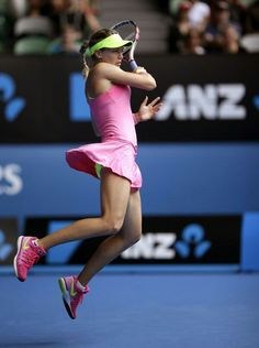 Genie Bouchard at the Australian Open 2015 #WTA #Bouchard #ausopen