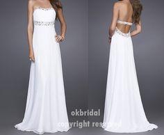 open back prom dress backless prom dress backless by okbridal, $128.00