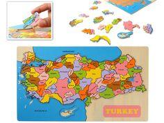 Ahşap Puzzle Türkiye Haritası - Sadece 10.90