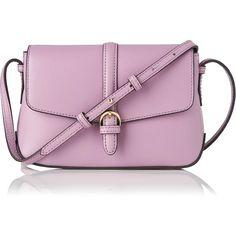 L.K. Bennett Megan Lilac Mini Crossbody Bag ($175) ❤ liked on Polyvore featuring bags, handbags, shoulder bags, purple purse, mini crossbody handbags, shoulder sling bag, mini purse e crossbody purse