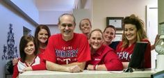 We all wore our Texas Rangers shirts to cheer on our team!             #SmileOasis.com