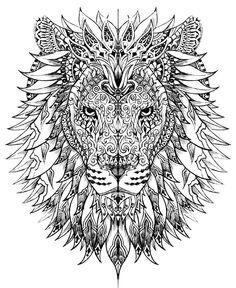 54 Best Lion Mandala Images Geometric Tattoo Design Geometric