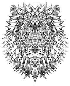 mandala art lion coloring book for adults