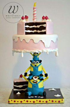 Gravity defying cake.