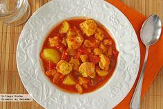 Receta de guiso aromático de pescado de inspiración sudafricana. Con fotografías paso a paso, consejos y sugerencias de degustación. Recetas de pescados