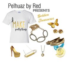 """""""Golden Treasures"""" by pelhuaz on Polyvore featuring Christian Louboutin and Alexander McQueen"""