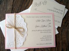Lace Doily Vintage Wedding Baby Shower Invitation by BellaPapel, $5.00
