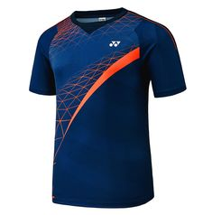 Yonex f/w collection men's badminton round t-shirts blue clothes nwt 7 Sport Shirt Design, Sports Jersey Design, Badminton Shirt, Golf Shirts, Football Shirts, Sport T-shirts, Jersey Outfit, Mens Fashion Sweaters, Handball