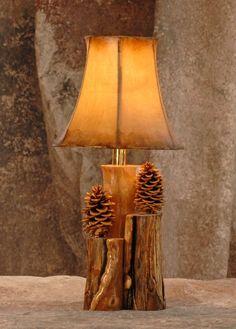Items similar to Aspen, and pinecone 2 bulb lamp - Rustic lamp - Rustic decor - Hurricane lamp on Et Rustic Mirrors, Rustic Lamps, Rustic Chandelier, Rustic Lighting, Rustic Decor, Industrial Lamps, Rustic Backdrop, Rustic Colors, Rustic Theme
