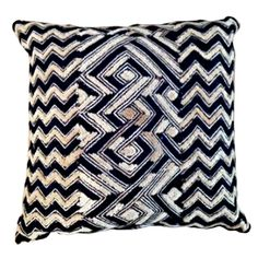 Vintage African Textile Pillow love it! #ecrafty