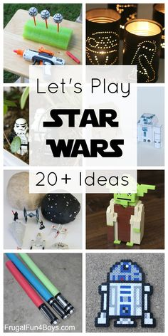 20+ Star Wars Crafts and Activities for Kids - Nerf games, LEGO ideas, Star Wars play dough, and more!