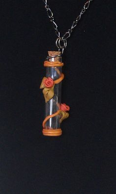 Steampunk Polymer Clay Time in a bottle by WestCoastCraftsbyLLW, $14.99