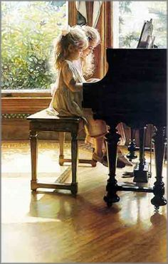 ~ sisters at the piano. I used to love doing piano duets - the thing about it that is better than playing in your own is that it makes the music sound more amplified and grand Foto Art, Watercolor Artists, Watercolor Paintings, Art Paintings, Painting Art, Beautiful Paintings, Art Music, Belle Photo, Amazing Art