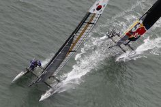 America's Cup Sailboat Racing this week in San Francisco - Great Photo